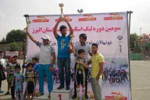 کسب عنوان سوم تیمی هیئت اسکیت شهرستان فردیس در لیگ اسکیت سرعت استان البرز